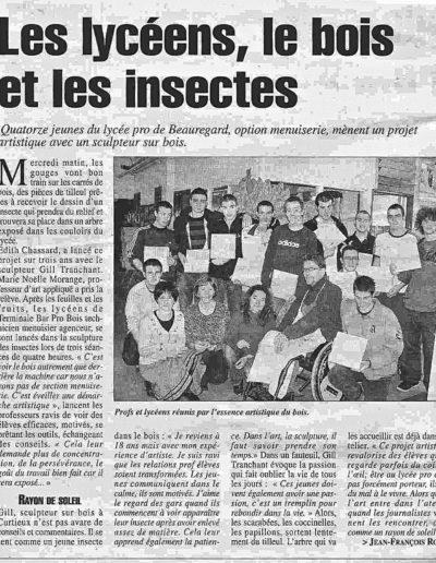 la gazette Lycée 08