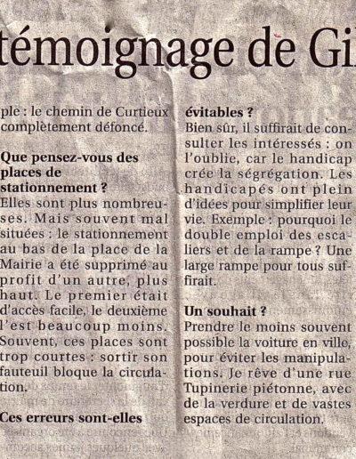 le témoignage de Gilles17.03.2011